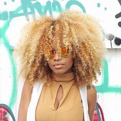 coloration blonde sur cheveux afro crpus naturels - Coloration Cheveux Crpus Naturels