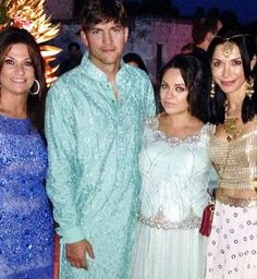 #AshtonKutcher and #MilaKunis attend a Big Fat #IndianWedding! On July 4th the Hollywood couple arrived clad in Indian attire for Delhi-based businesswoman #AyeshaThapar and Google's Senior Vice President, #NikeshArora's nuptials in Puglia, Italy.  According to NDTV Aston performed a dance routine and was dubbed 'Google Singh' by one guest. Pic source: @safriyaf