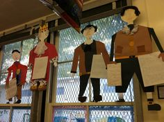Hanger People Biography.  A great way to get the students researching and doing art all at the same time.  All graphic organizers to actually write the standards based biography paper and then directions for how to put the hanger person display together.  Really great, fun project for the students. $