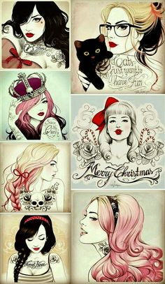 Pop Culture And Fashion Magic: Pin up girls and pin up tattoos – a short histo. - Pop Culture And Fashion Magic: Pin up girls and pin up tattoos – a short history - Pinup Art, Rockabilly Art, Rockabilly Clothing, Pin Up Girl Tattoo, Pin Up Tattoos, Girl Tattoos, Face Tattoos, Movie Tattoos, Key Tattoos