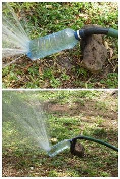 20 great ideas for easily recycling your plastic bottles. - - garden design ideas - 20 great ideas for easily recycling your plastic bottles. 20 great ideas for easily recycl - Garden Projects, Garden Tools, Tire Garden, Gutter Garden, Recycled Garden, Bottle Garden, Diy Bottle, Ways To Recycle, Recycle Plastic Bottles