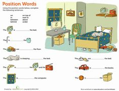 Kindergarten Reading & Writing Worksheets: Position Words