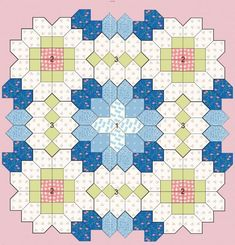 lucy+boston+patchwork+of+the+crosses   Patchwork of the Crosses - Quilts (beginners)EPP Coffin shape idea