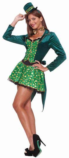 St. Patrick s Day Sexy Leprechaun Adult Costume - Party Depot St Patrick s  Day Costumes 008906b536