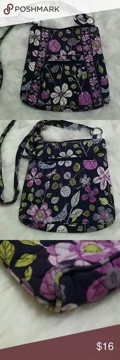 Vera Bradley Hipster Cute soft crossbody. A little faded and ware on edges and strap, still has lots of life left. Strap is adjustable. 11x11x2 Vera Bradley Bags Crossbody Bags