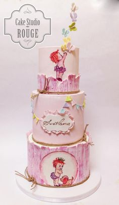 Vintage baby girl cake - Cake by Ceca79