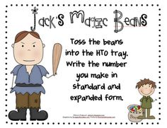"""Here's an activity where students toss """"magic beans"""" into a tray divided into hundreds, tens and one. Students then write a number based on where the beans fall. Includes directions and a recording sheet. Math Place Value, Place Values, Common Core Activities, Math Activities, Math Stations, Math Centers, Fifth Grade Math, Second Grade, Fourth Grade"""