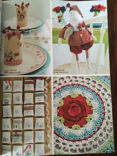 Enjoy the Christmas ideas in the this month's Ideas magazine, December 2015. I share my Santa Claus cloth dolls and rose crochet cushions in this issue. What a joyful experience!