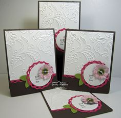 These are great for many occasions. elegant lines embossing folder, card set