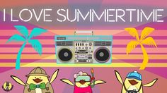 "Here is our BRAND NEW 2016 summer song for kids, ""I Love Summertime""! This song celebrates everything that's fun about summer: traveling to beaches, mountains, and cities, and doing all the fun summer activities at each of these locations.   Great for the classroom as well as at home (or in the car) for a groovy sing and dance session :)"