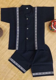 Mexican boys outfit Set includes: shirt and shorts Color : blue navy OR Beige Size : Months Care : hand wash or dry cleaning for best care DO NOT WASHING MACHINE Baby African Clothes, African Dresses For Kids, African Fashion Skirts, Baby Boy Clothing Sets, African Men Fashion, Dresses Kids Girl, Baby Boy Suit, Baby Boy Dress, Baby Girl Dress Patterns