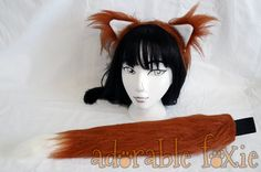 Wise Wolf Faux Fur Rust Fox Set - Cosplay / Furry / Costume