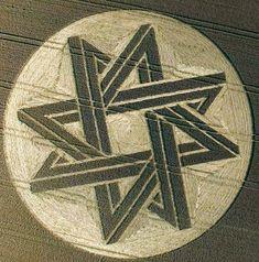 Allinger Kornkreis- 8 zackiger Stern