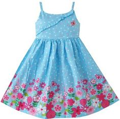 Girls Dresses Blue Tank Detailed Floral Sundress Child Clothing Size 7 New Girls Blue Dress, Girls Dresses, Kids Outfits Girls, Girl Outfits, Kids Summer Dresses, Floral Sundress, To My Daughter, Fashion Boutique, Sunnies