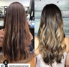 Before And After Balayage By Jessica At Collage Salon