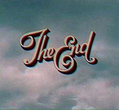 the end vintage film effect