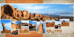 grand canyon scrapbook layouts - Google Search