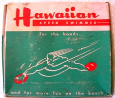 another early 1950's manufactured handboard. Front of Box