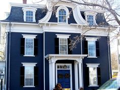 Clic New England Architecture Navy Blue Housescolonial Exteriorvictorian
