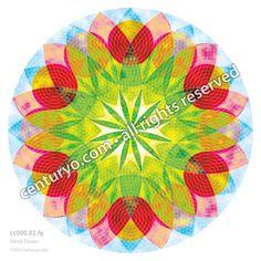 Hemp Flower • freestanding, round and foldable greeting-card for standard envelopes • cc153.02 • #Karte #Dekoration #Mandala #Papier #rund www.centuryo.com