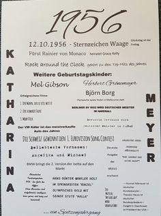 Geschenke für Männer - Druck - Jahrgang 1956 - ein Designerstück von textatelier…