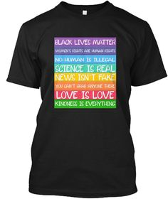 868d6c2fd12f Black Lives Love Is Love Resist T Shirt Black T-Shirt Front Modest Summer  Fashion