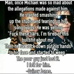Turns out this might not be factual since QJ apparently hadn't worked with MJ for years in the studio.