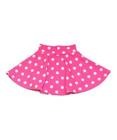 Pink & White Polka Dot Skort - Toddler & Girls