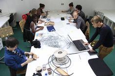 Immediately we went to our studio at the DJCAD to brainstormed, bringing ideas together and do the first sketches.