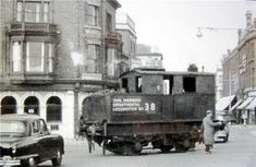 The Lowestoft Quay branch showing steam departmental locomotive No. 38 crossing Station Square. This was formerly Class Y3 Number 68168. The loco was scrapped in 1959.