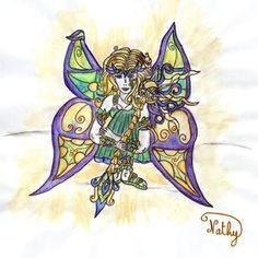Mythology art by Nathalie Boverat Illustrations, Les Oeuvres, Mythology, Bing Images, Fairy, Animation, Sky, Paint, Heaven