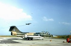 HAF TF-104G ,62-12278, Tiger Meet  1974 Bitburg . In the back is a  USAF F-4E of the 53th TFS.