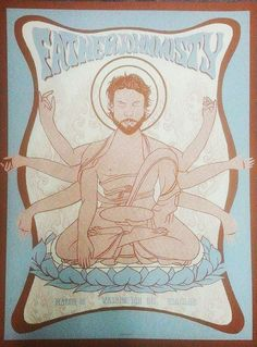 Father John Misty screen printed gig poster 2015 by bmethe on Etsy