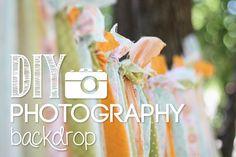 DIY photography backdrop - LOVE this idea!
