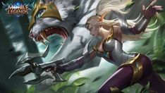 View an image titled 'Irithel Art' in our Mobile Legends: Bang Bang art gallery featuring official character designs, concept art, and promo pictures. Game Character Design, Character Drawing, Bang Bang, Moba Legends, Mobile Legend Wallpaper, Hd Wallpaper, The Legend Of Heroes, Fantasy Characters, Manga Characters