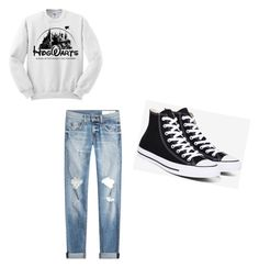 """Untitled #5"" by flaxmars on Polyvore featuring rag & bone and Converse"
