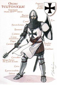 Teutonic Knight, 14th century The Order of Brothers of the German House of Saint Mary in Jerusalem. Active: c. 1190–Present Allegiance: Papacy, Holy Roman Emperor