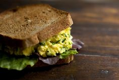 egg salad with chives - the only way I make it anymore!