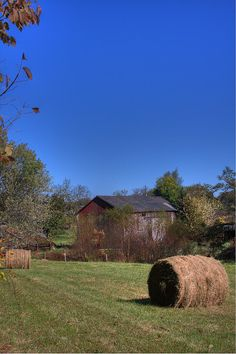 Bales and Barn by Sonny Jobe, via Flickr