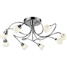 Ceiling Lamp Design Ohara Silver Metal - Size: One Size  #ceiling #design #metal #ohara #silver