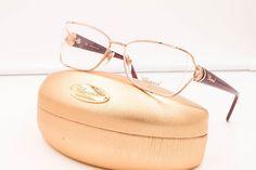 CHOPARD VCH 975S 08FC SHINY GOLD BURGUNDY MARBLE RX Eyeglasses NWC AUTH 54MM #Chopard #Designer