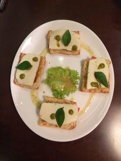 Bruschetta Mozzarella Tomato & Pesto Served @ Corso Como Cafe • food bar @ Central Square @ Markopoulo