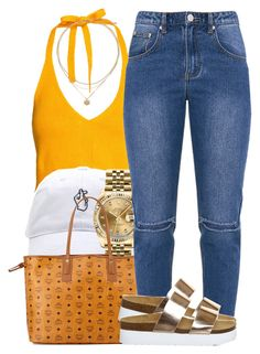 """""""Untitled #1017"""" by trinsowavy ❤ liked on Polyvore featuring Rolex, MCM and Office"""