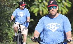 Adam Sandler looks cool in reflective shades on bicycle ride in Malibu during coronavirus lockdown Adam Sandler, Malibu, Looks Cool, Sadie, Mail Online, Daily Mail, Comedians, Cycling, Core