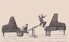 Rawicz & Landauer - taking their two piano duets to new heights. Music Pics, Music Pictures, Music Photo, Classical Music Humor, Musician Jokes, Music Memes, Music Humour, Choir Humor, Funny Music