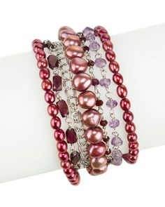 HONORA - garnets, pearls and amethyst