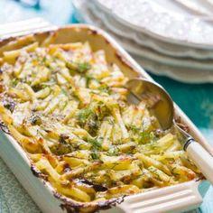 Laxfrestelse med gravad lax & strimlad potatis