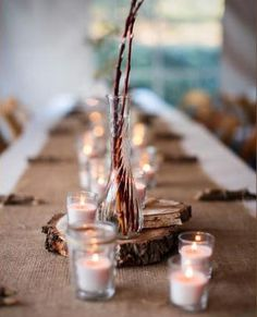 """How to get and use tree trunk """"slices"""" in your wedding"""