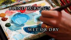 How to Blend Acrylic Paint on Canvas - Justin Hillgrove - Imps and Monsters