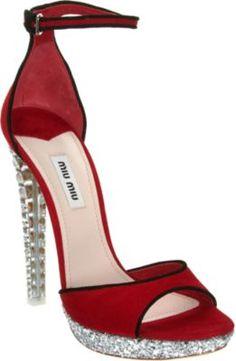 Miu Miu - Crystal Heel Sandal